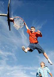 Parker Jensen slam dunks